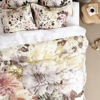 Meadow Dusk Duvet by Anthropologie Sand
