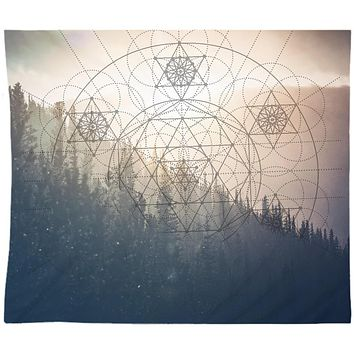 Mountain Mandala Sun Wall Tapestry Yoga Meditation Hippie Wall Hanging