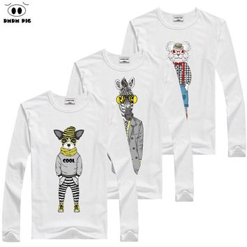 DMDM PIG Autumn 2017 Kids Boys Anime T Shirt Toddler Baby Boy Blouses Children Long Sleeves T-Shirts For Kids Girls Tops TShirt