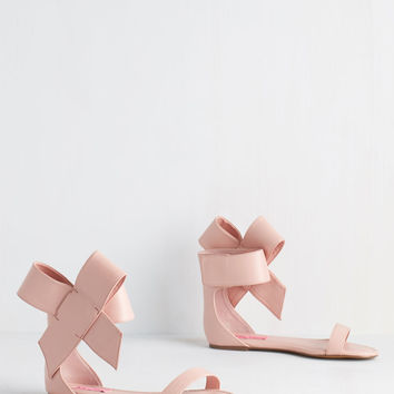 Betsey Johnson Posh Star Sandal in Blush