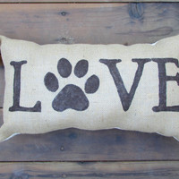 Dog Lover Theme Love 11x20 inches Custom Accent Pillow