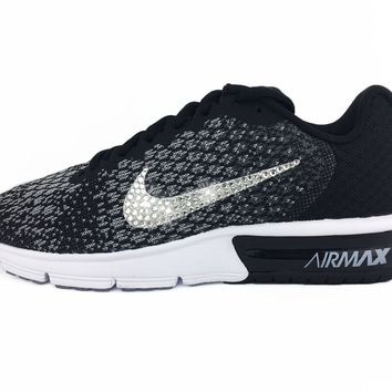 Nike Air Max Sequent + Crystals - Black/White