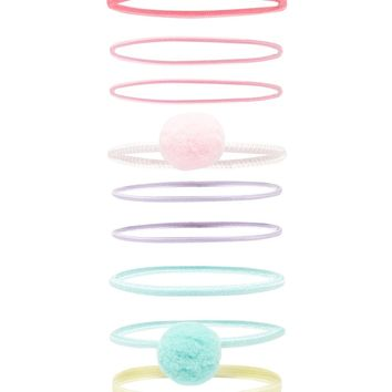 Pom Pom Hair Tie Set