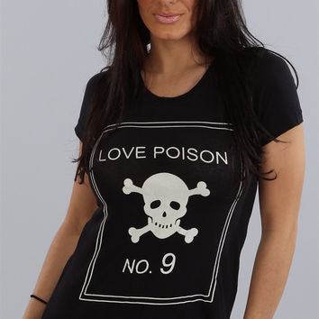 Wildfox Couture Love Poison No. 9 Crew Neck in Black