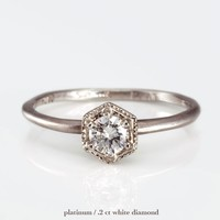 Catbird :: shop by category :: JEWELRY :: Wedding & Engagement :: Classic :: Hexagon Ring, White Diamond