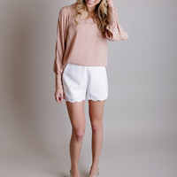 Simple Scallop Shorts
