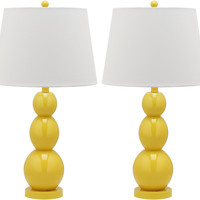 Bailey Table Lamp Set, Yellow, Table Lamps