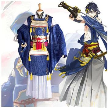DCCKHY9 Touken Ranbu Online Mikazuki Munechika cosplay Costume Warrior anime clothes Halloween Costumes for women Kimono Suit with Armor