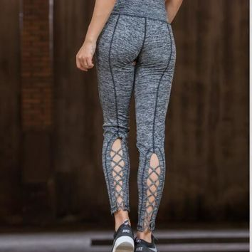 Yoga Pants Hollow Out Gym Cropped Pants [10544458247]