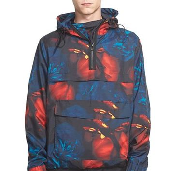 Men's AMI Alexandre Mattiussi Floral Print Hooded Jacket,