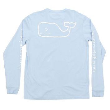 Vintage Whale Country Club Prep Long Sleeve Tee in Jake Blue by Vineyard Vines - FINAL SALE