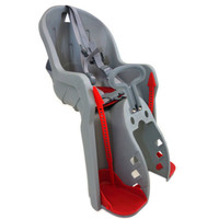 Deluxe Medium Front Mount Bicycle Child Seat Gray Carrier Bike Kid Chair  New