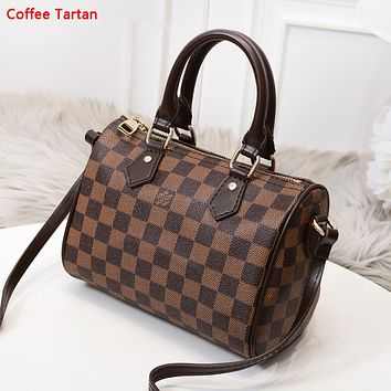 LV New fashion monogram check print shoulder bag women handbag