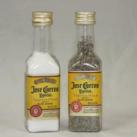 Salt & Pepper Shaker from Upcycled Jose Cuervo Tequila Mini Liquor Bottles