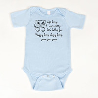 Big Bang Theory Soft Kitty Baby Bodysuit Blue by geeklingdesigns