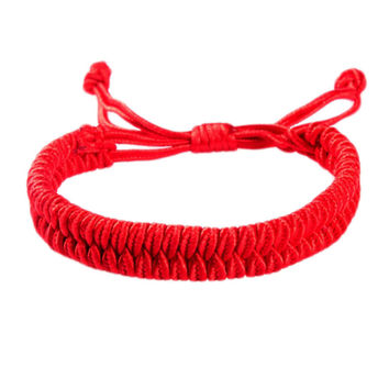 New Women Men Jewelry Handmade Waving String Bracelet Red Rope Chain&Link Bracelet Wrap Surf Bracelet Wristband