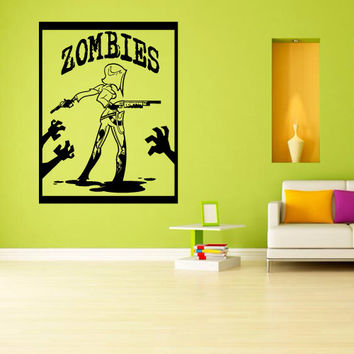 Wall decal decor decals sticker art vnyl design mummy zombie horror skull fear dead myth character corpse Bedroom (m1249)