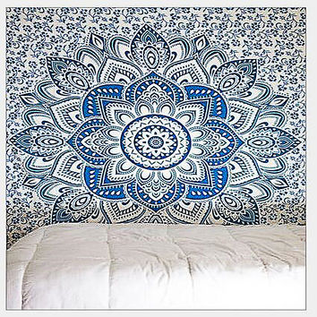 Indian bohemian style mandala bed, beach towel, shawl, picnic, mattress, sleeping mat, tapesty