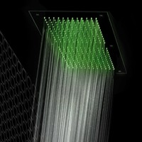 Ceiling mounted overhead shower with chromotherapy Flat Collection by Gattoni Rubinetteria