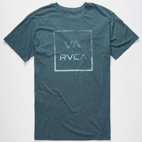 Rvca Va All The Way Mens T-Shirt Navy  In Sizes