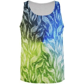 CREYCY8 Peacocks And Feathers All Over Mens Tank Top