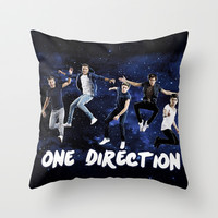 ONE DIRECTION SPACE Throw Pillow by dan ron eli