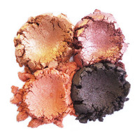 15% OFF - 4pc AUTUMN Mineral Eyeshadow Makeup Eye Color Set Natural Vegan Minerals