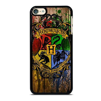 HOGWARTS HARRY POTTER LOGO WOOD iPod 4 5 6 Case
