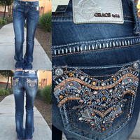 GRACE IN L.A. OCTOBER FEST BOOTCUT JEANS