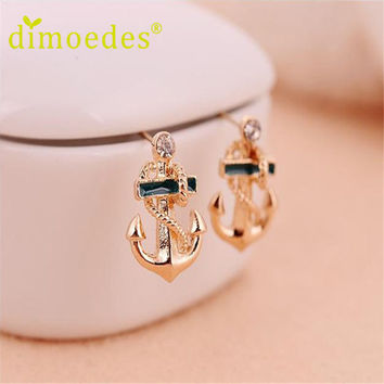 Best seller free shipping Diomedes Free Shipping Brincos Women Fashion Crystal Rhinestone Ear Stud Earrings Gift Aretes Apr7