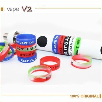 10pcs lot Non-Skid MOD Silicone Ring Electronic Cigarette Silicon Vape Ring For Mechanical Mods E Cig Accessories Silicone Rings