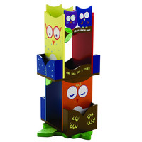Levels of Discovery Owls Revolving Bookcase - LOD20059
