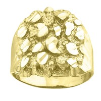 Men\'s Gent\'s Solid Nugget Ring in 10k Yellow Gold