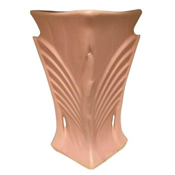 Pre-owned McCoy Pottery Pink Art Deco Vase