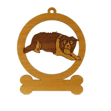 Border Collie Laying Ornament 081870 Personalized With Your Dog's Name