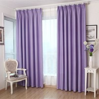 Solid color thickening eco-friendly cloth curtain double faced matte finished blackout blind