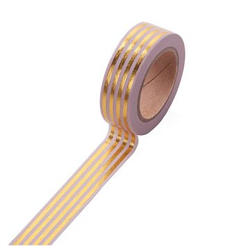 Blush Pink and Gold Stripe Washi Decorative Masking Tape
