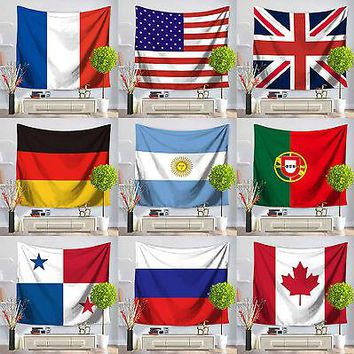 Countries Flag Hang Tapestry Beach Towel Tablecloth Blanket  Wall Tapestry Home Decor