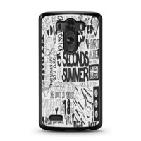 5 Seconds of Summer Songs Collage For LG G3 Case