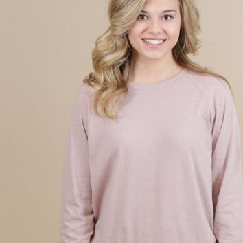 The Hall Pullover, Dusty Pink