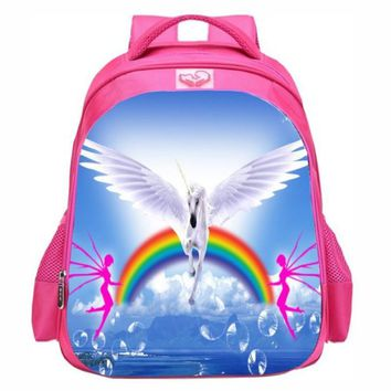 3D Fantastic Animal Prints Horse Unicorn Backpacks for Teenagers Girls Kids pink Backpack School Bags Children Mochila Escolar