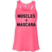 Muscles and Mascara Tank Top Racerback