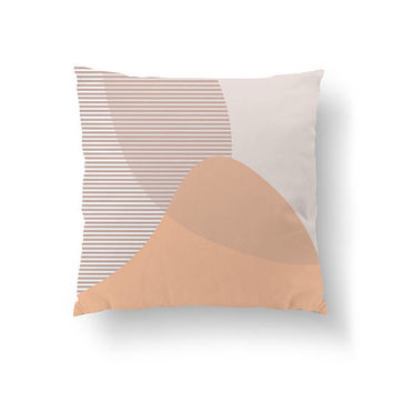 Subdued Textures, Pink Pastel Pillow, Abstract Shape, Throw Pillow, Simple Art, Decorative Pillow, Home Decor, Cushion Cover, Stripes Pillow