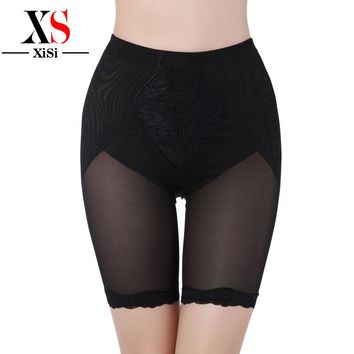 Summer New Mesh Mid Waist Shapewear Sexy Lace Plus size Magic Body shaper Waist Shaper Tummy Control Panties Firm panty Shaper