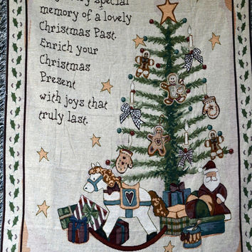 Tache Merry Christmas Morning Tapestry Throw