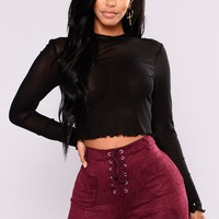 Lunation Mesh Top - Black