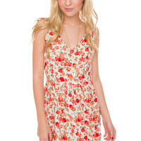 Vera Floral Dress - White