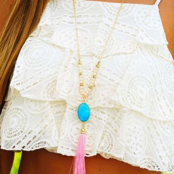 Sweet Shop Necklace: Cotton Candy