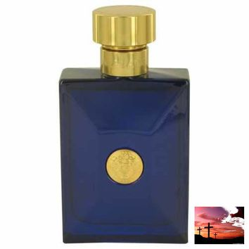 Versace Pour Homme Dylan Blue by Versace Eau De Toilette Spray (Tester) 3.4 oz (Men)