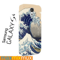 Hokusai Great Wave Japanese Print Blue Samsung Galaxy Series Full Wrap Cases